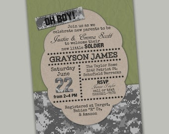 ARMY BABY SHOWER- printable file