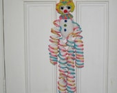 ON SALE - 10% OFF Crochet toy stuffed doll Huge Rainbow Clown -  33 inches tall