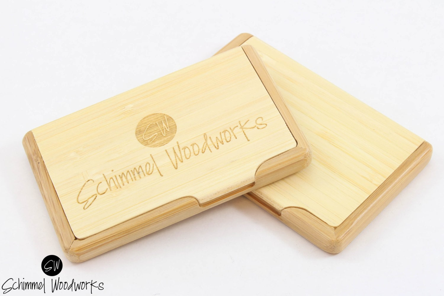 Custom Engraved Wood Business Card Holder, Groomsmen Gift,