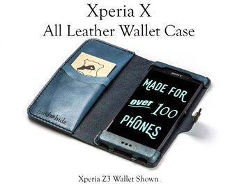 Xperia X Leather Wallet Case / Sony Xperia X cover / phone case wallet / leather phone case / Xperia X case / leather phone wallet