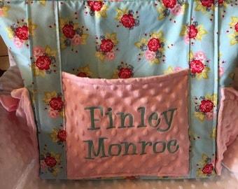 Custom Made Minky Diaper Bag