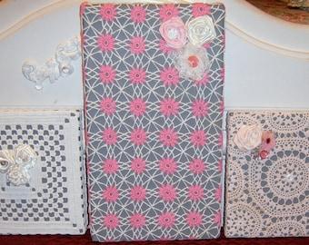Crochet Doily, Wall Art, Crochet on Canvas,  Vintage Crochet Doilies, Canvas Wall Art,  Wall Hanging, Shabby Chic