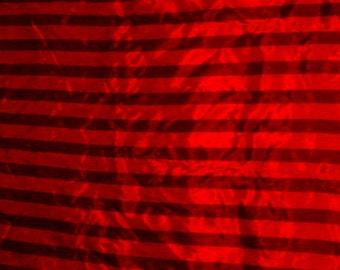 Fabric, Yardage, Red Stripe Fabric, 3 Yards, Sewing Supplies, Craft Supplies,