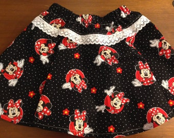 Minnie Mouse skirt / Disney Parks skirt  / Minnie Mouse Birthday / Disney Birthday skirt / Disney Vacation clothing / Disney Skirt
