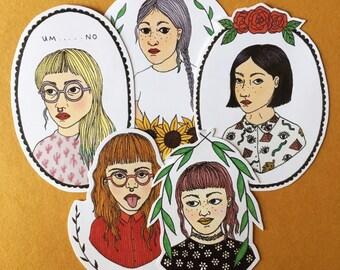 Sassy Girls Sticker Set