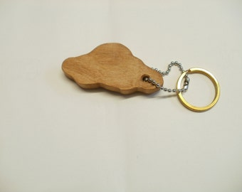 cloud keychain silhouette outline  wood maple scroll saw