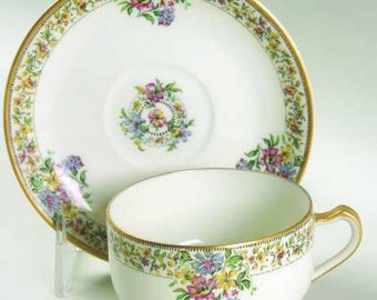 Haviland Narcissus Tea Cup and Saucer