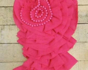 Hot Pink Rosette Appliques
