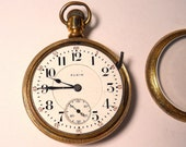 1899 Elgin B. W. Raymond Railroad  Pocket Watch, 18 Size, 19 J, Needs Some Repair