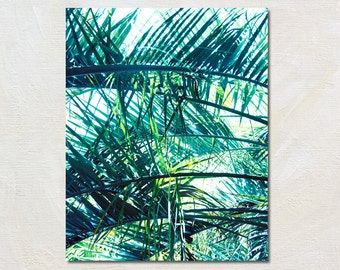 Palm Art Print, Palm Frond Artwork, Nature Photography, Green Tropical Decor, Vertical Photograph, Hawaii Wall Art, Big Picture