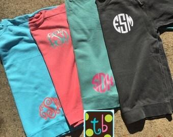 Personalized Monogrammed Comfort Colors Tunic Sweatshirt