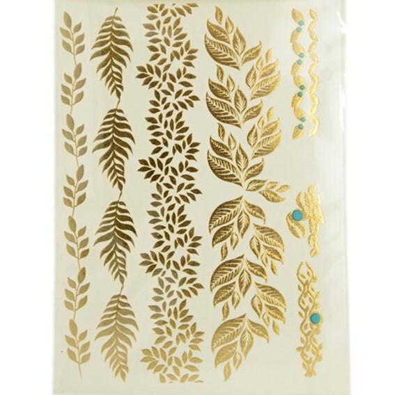 Gold foil tattoo sheet for Gold foil tattoo
