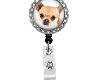 Chihuahua Dog Id Badge Reel Lanyard Name Tag Holder