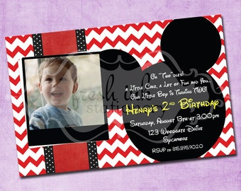 Mickey Mouse Picture Birthday Invite