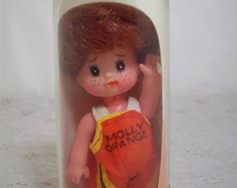 Vintage Molly Orange Soda Pop Mini Doll