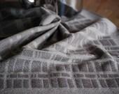 Handwoven Tea or Kitchen Towel Stone Wall- Eggshell