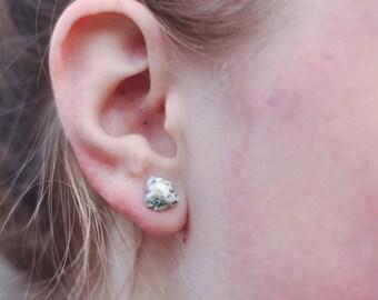 Speckled Rock Stud Earrings