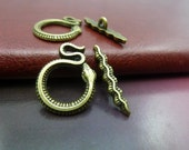 30pairs 16*21-4*23mm antique bronze snake OT clasps toggle clasps C5640