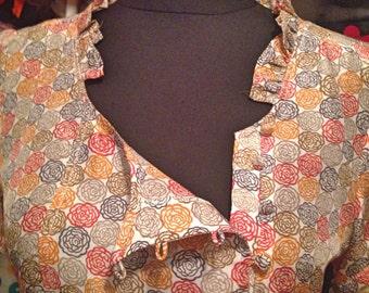Flowered spanish silk lovely dress
