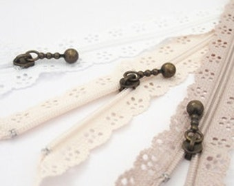 Pretty Lace Zippers