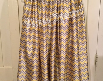 White, yellow, black and grey zig zag satin belly dance harem pants