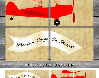 Airplane Red - 4 page banner - digital