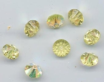 Twelve rare vintage Swarovski crystal beads: Art. 42/5307 - 10 mm - jonquil AB
