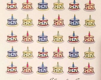 Birthday Cake Planner/Journal/Bullet Journal Stickers