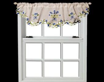 "Beautiful Blue Bonnet Mantle Scarf, 19"" X 90"" or a Window Valance 16"" X 54"""