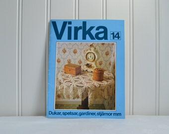 Swedish crochet booklet , vintage pattern book, please view details