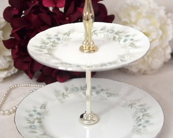 Paragon Debutante 2 Tier Cake Stand, Replacement China, Tea Party,  ca 1963