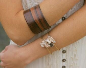 Wooden Curved Cuff Bracelet