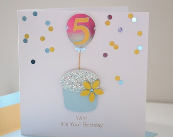 Age Specific Birthday Greeting Card: 5th Birthday Card