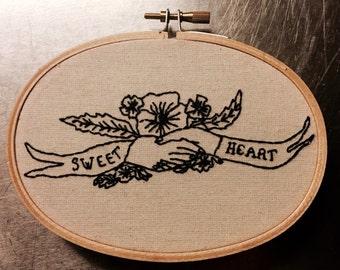 SWEETHEART, SAILOR TATTOO embroidery kit