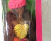1987 Mattel Island Fun Christie Barbie in box