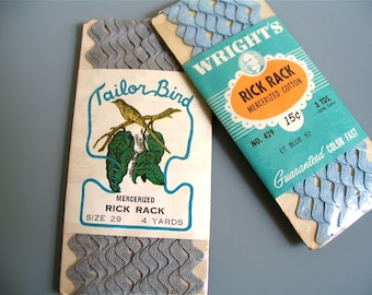 Vintage Rick Rack, On Sale! Sewing Supplies, Tailor Bird, Wrights, 1920's and 1930's, In Original Packaging