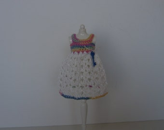 Blythe Dress in Multi-White