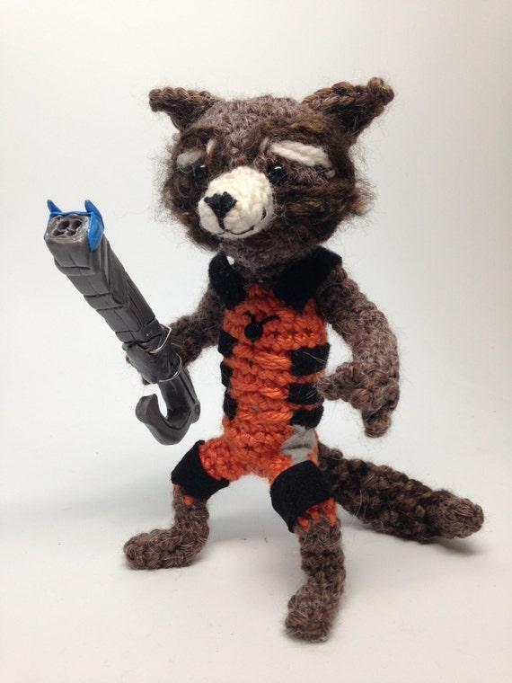 Amigurumi Patterns Groot : Rocket Raccoon and Free Baby Groot Crochet doll Amigurumi ...