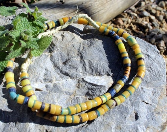 Vintage African Trade Beads, Pressed Glass, Sand Cast, Beads Traveling the Globe, T.23.