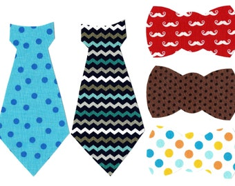 5 Boys tie appliques iron on DIY - great for baby showers