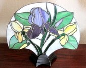 Custom Iris Fan Lamp for Laurie