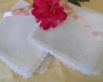 Vintage Linen White Dinner Napkins, Set of 12, Wonderful Condition