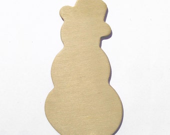 10 Snowman Unfinished Wood Cut-Out Shapes - 4 Inch Ready to Embellish for Holiday Crafts