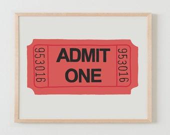 Fine Art Print.  Ticket.  September 29, 2015.