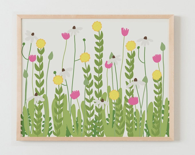 Fine Art Print.  Flowers in Garden.  February 1, 2016.