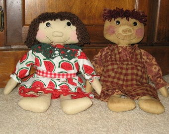 Primitive and Country Sisters Doll Pattern Digital Download from Sew Practical, Mom and Pop Craft