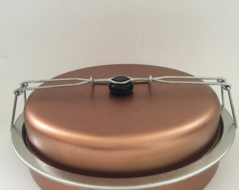 Copper Colored Pie Storage/Travel Container