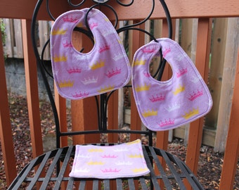 Princess Bib & Washcloth Set