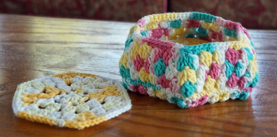 DOWNLOAD TODAY Honeycomb Coaster & Basket Crochet Pattern