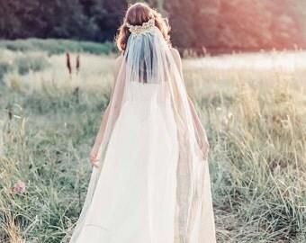 bohemian wedding veil boho chic veil boho bridal veil gold veil ivory
